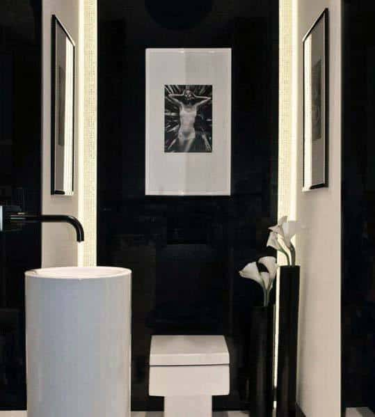 Modern White And Black Bathroom Designs