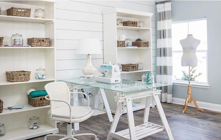 Modern White Craft Room