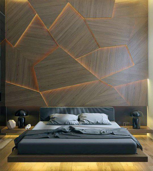 Modern Wood Bedroom Lighting Ideas