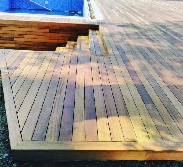 Modern Wood Cool Deck Steps Design Ideas