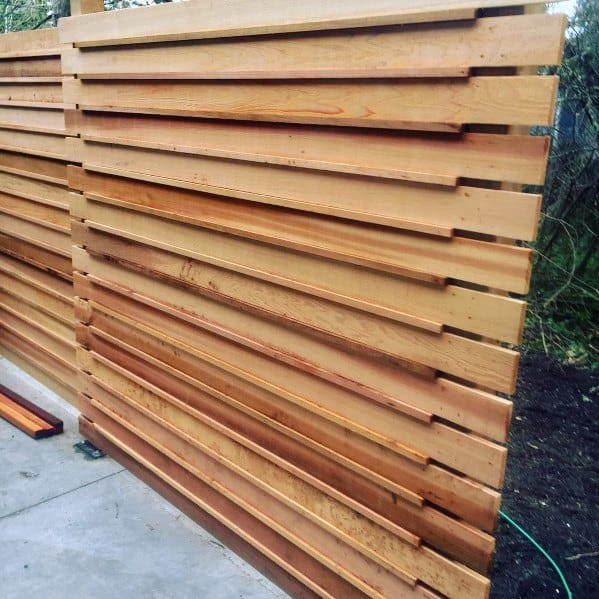 Modern Wood Cool Privacy Fence