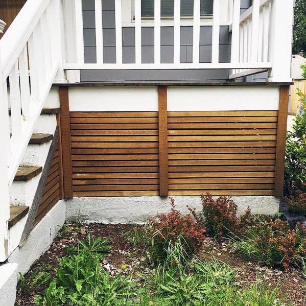 Modern Wood Deck Skirting Backyard Ideas