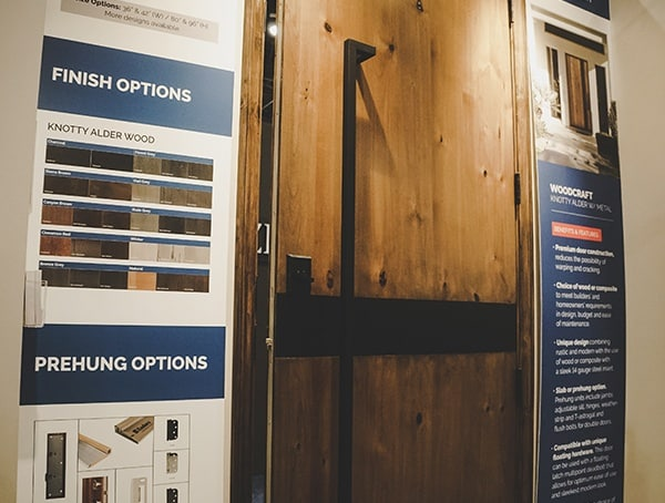 Modern Wood Door With Square Pull Handle 2019 Nahb Show