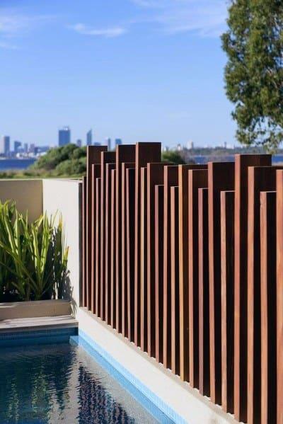 Modern Wood Fence Exterior Ideas