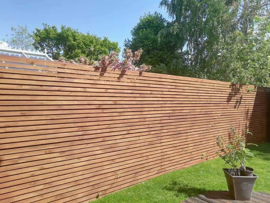 Modern Wood Fence Ideas Before And After Home Ideas