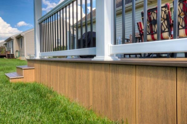 Modern Wood Panels Backyard Designs Deck Skirting
