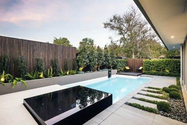 Modern Wood Pool Fence Design Ideas