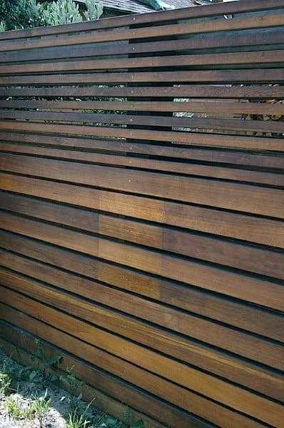 Modern Wood Privacy Fence Cool Backyard Ideas