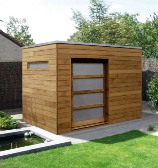 Modern Wood Siding Backyard Shed Home Designs