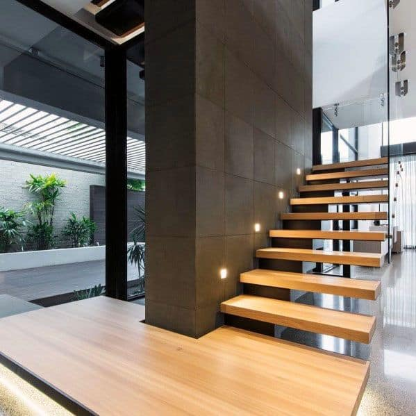 Modern Wood Stairs Design Idea Inspiration