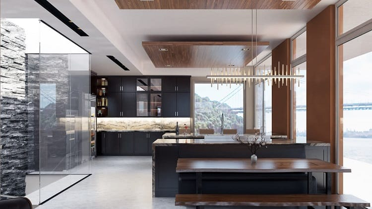 Modern Wooden Floating Ceiling