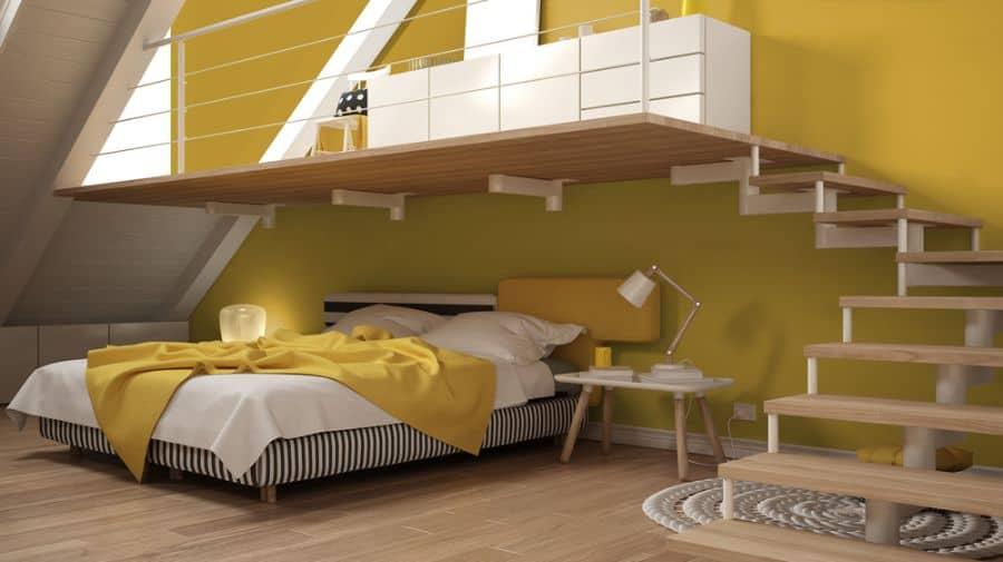 modern yellow bedroom ideas 1