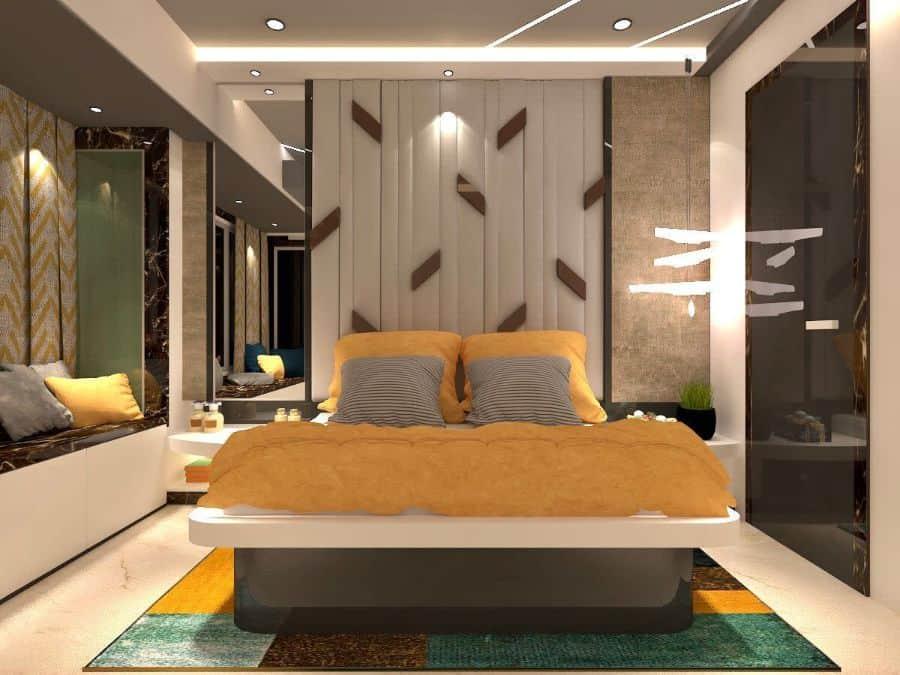 modern yellow bedroom ideas int.ankita_sampat