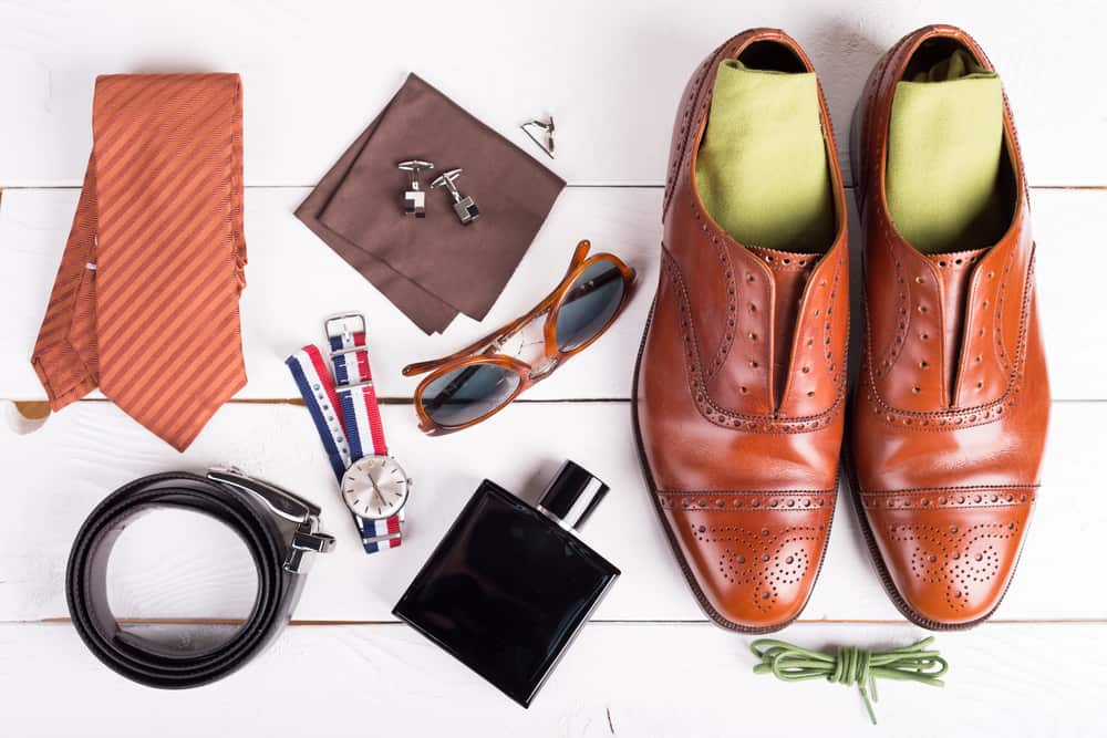 Man's style, urban shoes, socks and accessories