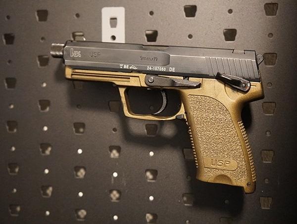Modular Gun Safe Cabinet Handgun Barrel Storage Hanger
