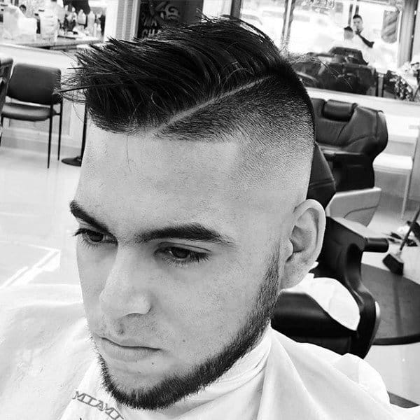 Mohawk Mens Haircut With Skin Fade Sides