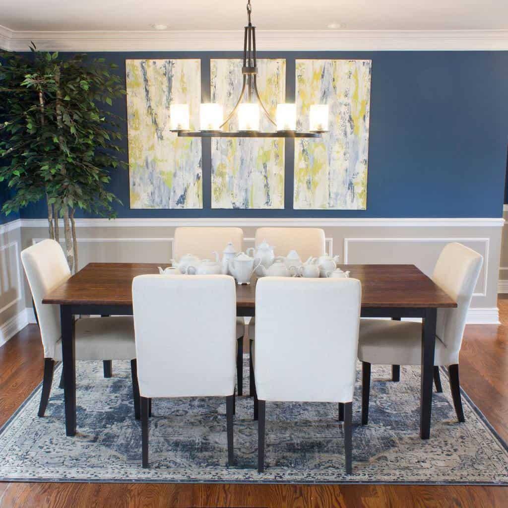 molding dining room wall decor ideas chicaandjo