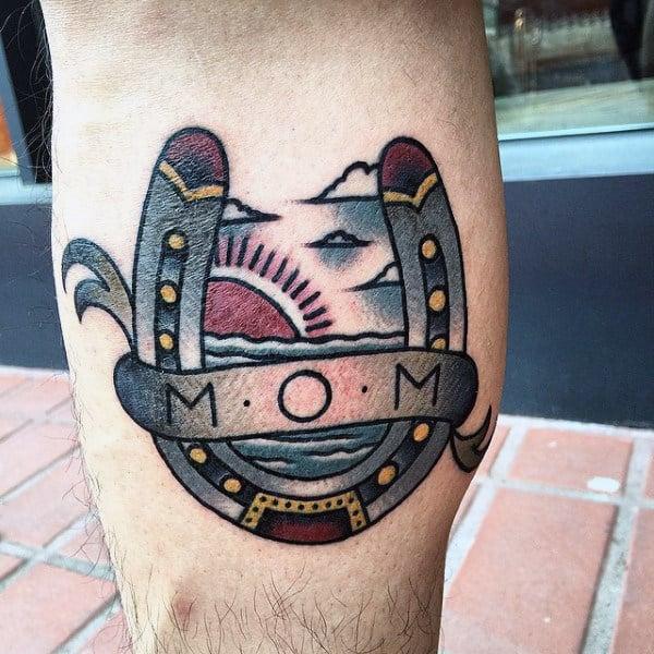 60 Horseshoe Tattoo Designs For Men - Good Luck Ink Ideas