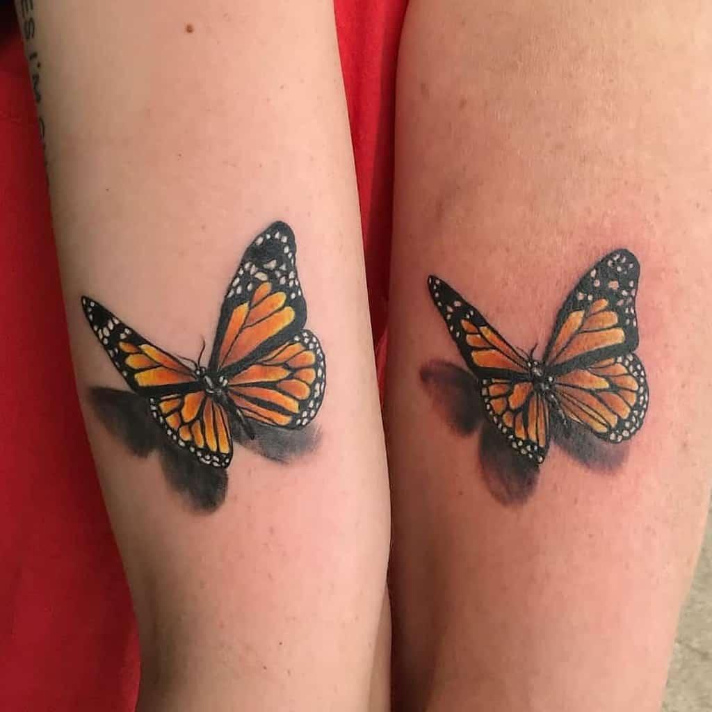 monarch-butterfly-mother-daughter-tattoo-watchtowertattooco