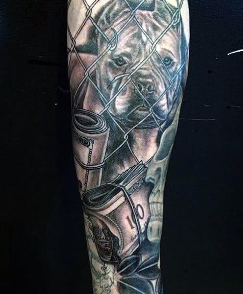 Money Dog Tattoo Designs