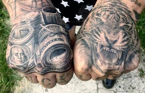 Money Power Respect Tattoos Men On Hands