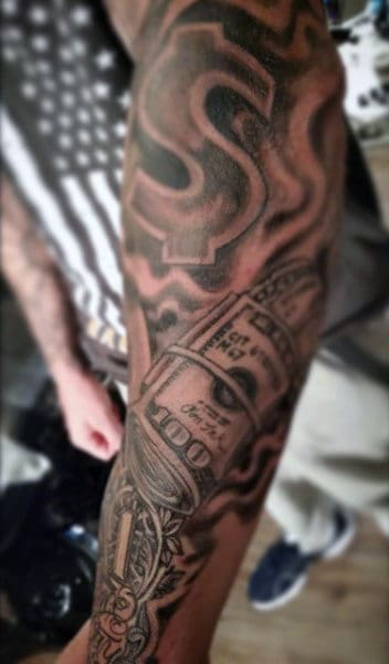 Money Sign Tattoo Designs For Men Sleeves