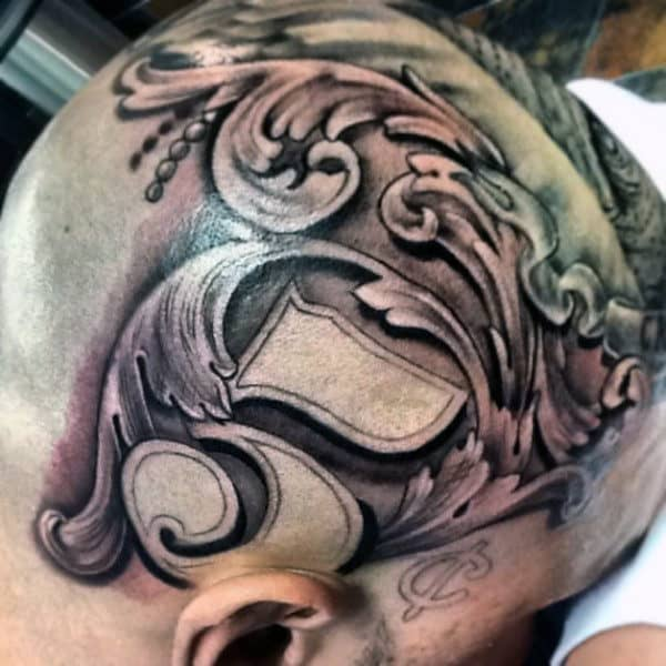 Money Tattoos For Men On Head