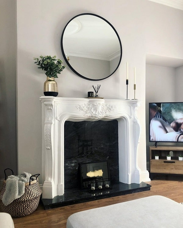 Monochrome Home Mantel Decor Ideas Athomewithholli