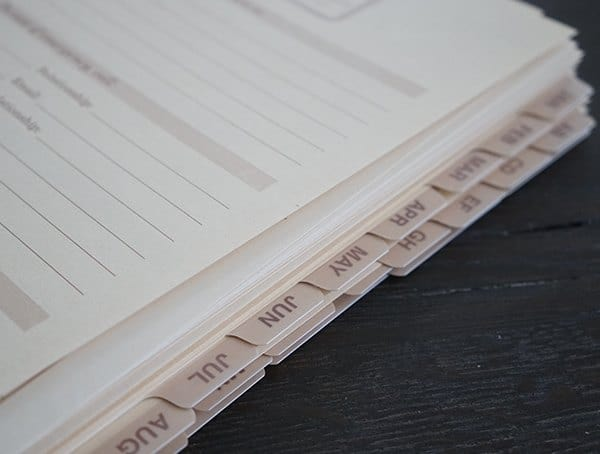 Month Tabs Rite In The Rain Maxi Field Planner