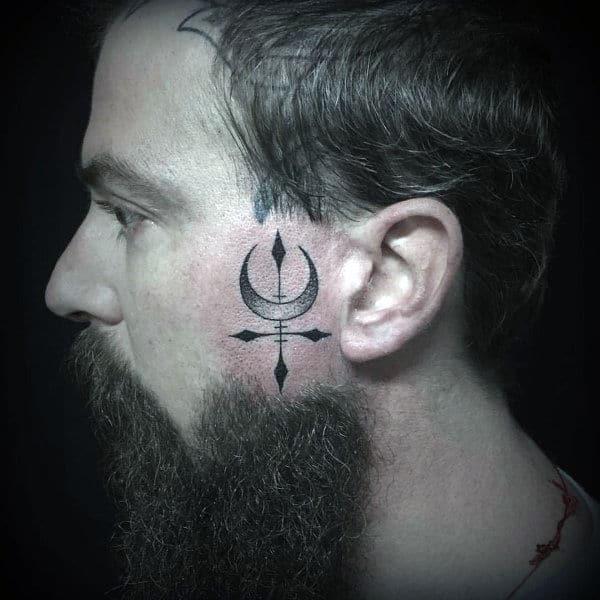 c40d46bb423af 90 Face Tattoos For Men - Masculine Design Ideas