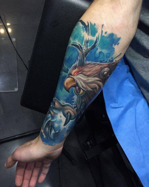 Moonkin Male World Of Warcraft Tattoos