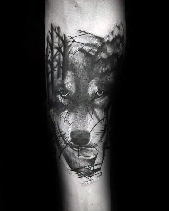 60 Sick Wolf Tattoo Designs For Men , Manly Ink Ideas