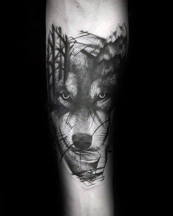 Morph Inner Forearm Sick Wolf Guys Tattoo Ideas