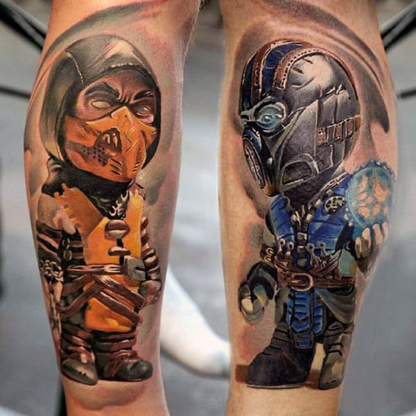 100 Video Game Tattoos For Men - Gamer Ink Designs