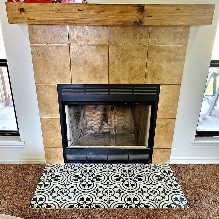 Mosaic Tile Diy Fireplace Surround Al3xdomenici