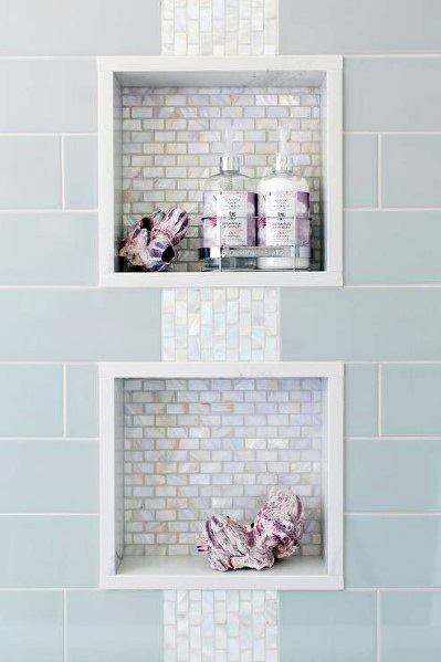 Mother Of Pearl Tile Shower Niche Ideas