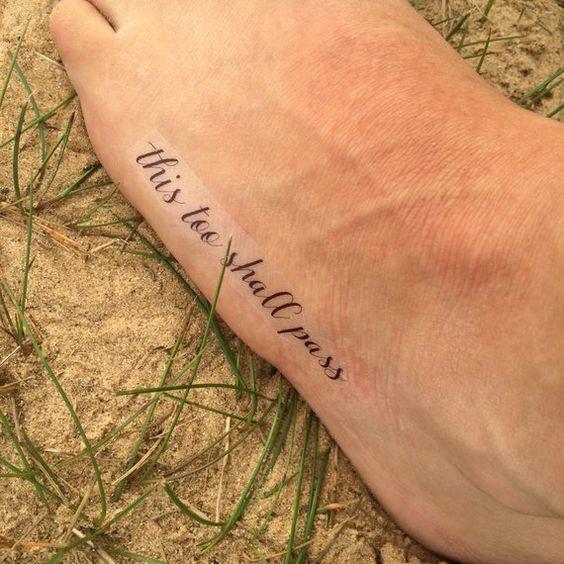 Motivational This Too Shall Pass Tattoo
