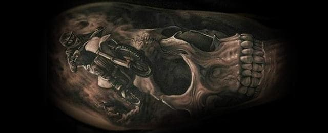 Motocross Tattoos For Men