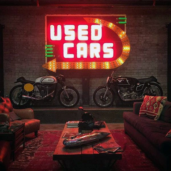 Motorcycle Storage Man Cave Garage Ideas
