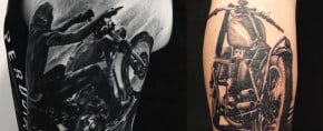 60 Motorcycle Tattoos For Men – Two Wheel Design Ideas