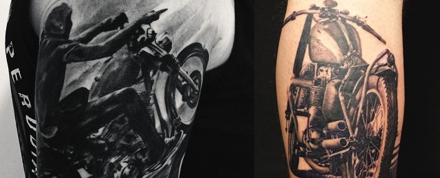60 Motorcycle Tattoos For Men – Two Wheel Design Ideas