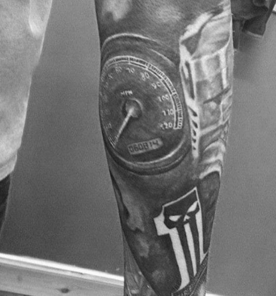 Motorcycled Themed Mens Harley Davidson Tattoo Sleeves