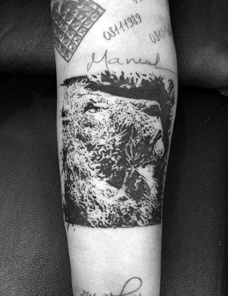 Mountain Lion Men's Tattoos
