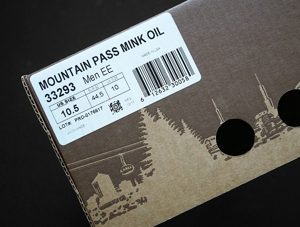 Mountain Pass Mink Oil Shoe Box