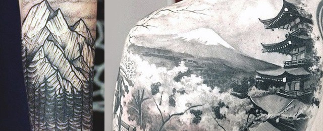 Mountain Tattoo Designs For Men