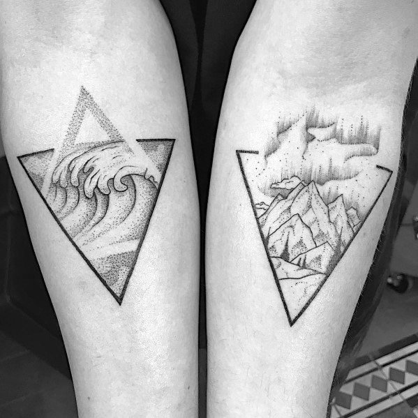 Mountain Wave Guys Tattoo Designs