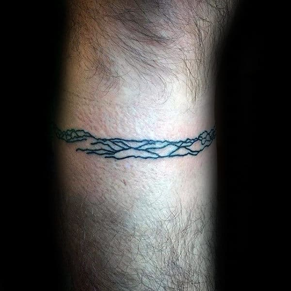 Mountains Minimalist Mens Armband Tattoo