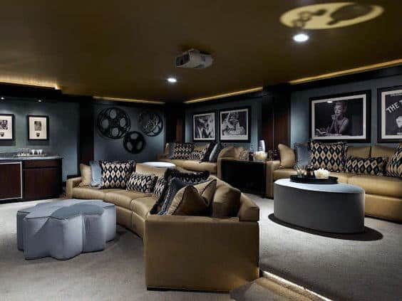 Movie Entertainment Room In Basement