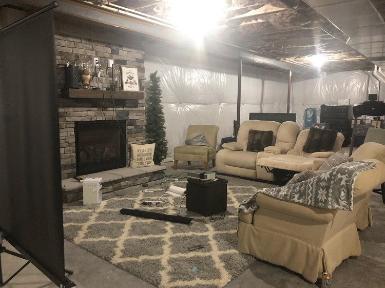 Movie Room Unfinished Basement Ideas