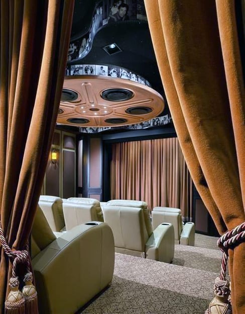 Movie Room With Cinema Decor Touches